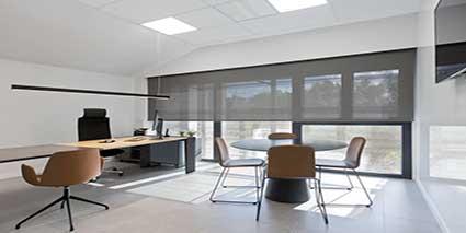 Cortinas para oficina estores para oficinas en madrid - Cortinas verticales para oficinas ...