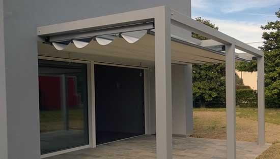 P rgolas con toldo corredizo toldos correderos para p rgolas for Estructura de aluminio para toldo