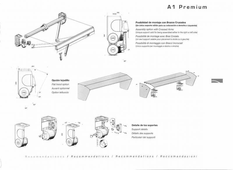 Toldos extensibles premium toldo con brazo extensible for Reparar brazo de toldo