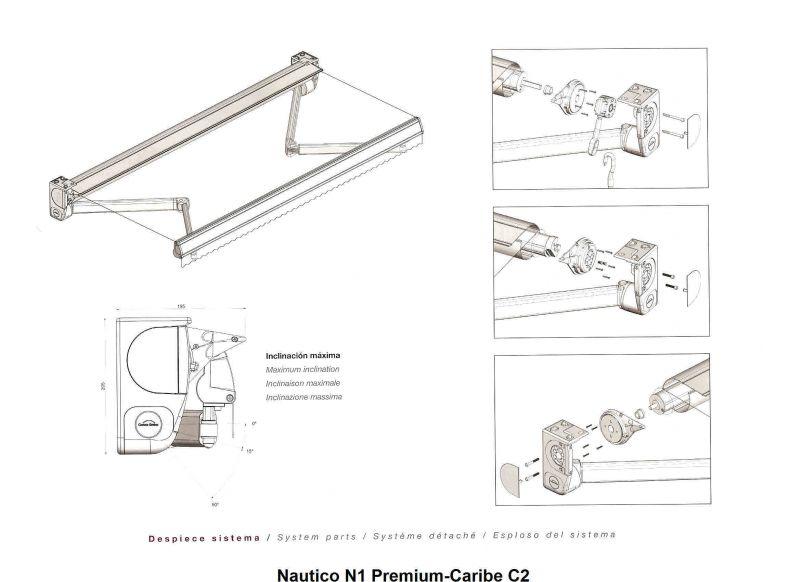 Toldo extensible smart toldos con brazos extensibles for Toldo brazo extensible