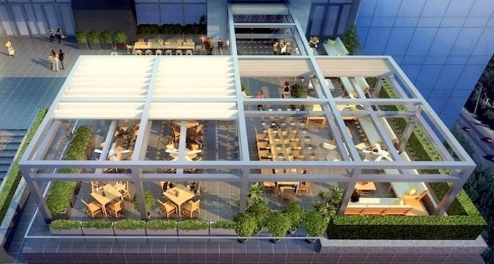 Toldos para terrazas de bares estortoldos for Toldos electricos para terrazas